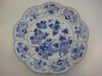 "Chelsea House Blue & White Hand-Painted Large Porcelain Decorative Plate, 13"" D"