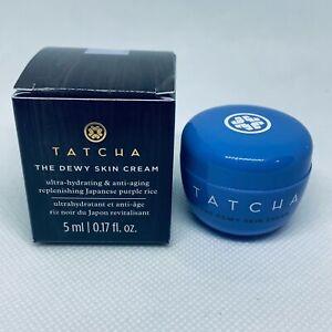 TATCHA The Dewy Skin Cream Moisturizer 0.17 oz / 5mL Deluxe TRAVEL SIZE NEW BOX
