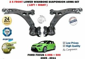 for FORD FOCUS 2.5 RS 500 2009-2011 2X FRONT LEFT RIGHT SUSPENSION WISHBONE ARM