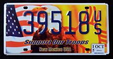 """NEW MEXICO """" SUPPORT OUR TROOPS -  EAGLE -  FLAG """" NM Specialty License Plate"""