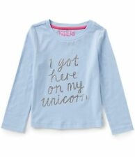 Joules Girls' Long Sleeve Sleeve Crew Neck T-Shirts & Tops (2-16 Years)