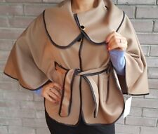 Brown Poncho Style Cape Coat