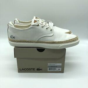 Lacoste Mens Esparre Jute 119 2 CMA Canvas Off White Shoes Size 12
