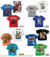 OFFICIAL Boys CHARACTER T-shirt SHORT SLEEVE Top 3 4 5 6 7 8 9 10 11 12 Years