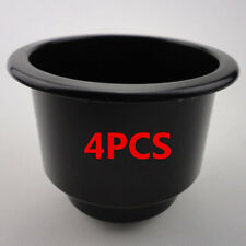 4Pcs Black Plastic Cup Drink Can Holders For Marine Yatch Boat Ship Offroad Rv(Fits: More than one vehicle)