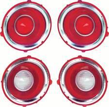 1970-71 Camaro RS Tail Lamp/Back Up Lens Kit with Chrome Trim Ring (1st Design)