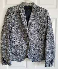 NWOT Sz 6 TALBOTS Floral Print Button Front Blazer / Jacket, Fully Lined