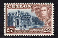 Ceylon 25 Cent 1938 Mounted Mint Stamp Perf 11 1/2 (6858)