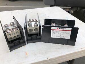 NEW Burndy BDBLHC-26-350-1 Versi-Pole Power Distribution Block 600V 500A 350-6