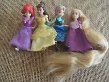 Polly Pocket Disney Princess Lot Fabric Dresses Rapunzel Ariel Frozen O20