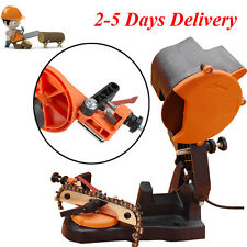 NEW ELECTRIC GRINDER CHAIN SAW BENCH SHARPENER MOUNT W/GRIND CHAINSAW WHEEL