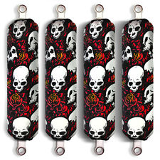 Red Skull Shock Covers Polaris Youth Ranger RZR 170 Side by Side (Set of 4) New