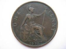 1895 Reina Victoria 2 mm, Penny, Vf, anverso cero.