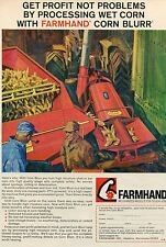 1968 Farmhand Corn Blurr Tractor Implement Print Ad