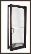 COMMERCIAL ALUMINUM STOREFRONT DOOR & FRAME (DARK BRONZE FINISH)vellabennikean