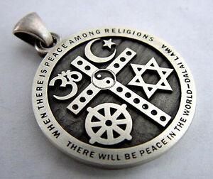 INTERFAITH UNITY Pendant - Promoting Peace/Unity Among Spiritual Traditions