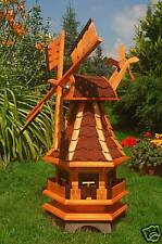 Windmühle Windmühlen kugelgelagert 95cm Bitum rot