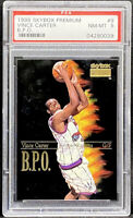 Vince Carter 1998-99 Skybox Premium BPO Insert Rookie RC Low Pop PSA 8