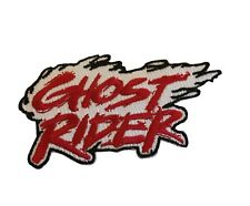 Ghost Rider Red Flame Logo Embroidered Iron On Patch Marvel Comics