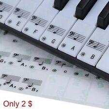 Transparent Black Music Note Electronic Keyboard 88 Key Piano Stave Note Sticker