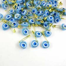 Turkish Handmade Evil Eye Soft Blue With Safety Pin For Good Luck
