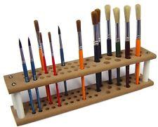 Major Brushes MDF Wooden Paint Brush Holder Stand 45 Brush Capacity