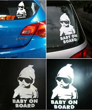 Funny Cool Baby on Board Vinyl Car Sticker with sunglasses Decal Sign Window Hot