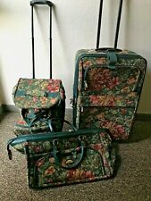 American Flyer 3 Piece Floral Tapestry Luggage Set ~ Soft-sided and 2 w/ Wheels