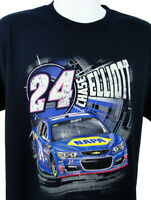 Mens Chase Elliott 24 Nascar Racing Double-Sided T shirt Blue Size M Hendrick