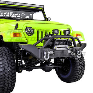Rock Crawler X-HD Front Bumper+Winch Plate+2x D-rings for 97-06 Jeep Wrangler TJ