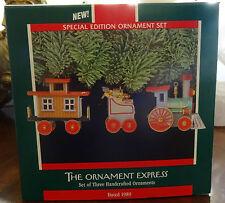 Hallmark Keepsake Christmas Ornament The Ornament Express New in Box Set of 3