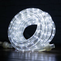 """Cool White LED Rope Lights 3/8"""" 2 Wire Simple Extendable Accent Party Decoration"""