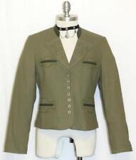 """H Moser Green Cotton Austria Women Summer Riding Dirndl Dress Jacket 36 8 S B38"""""""