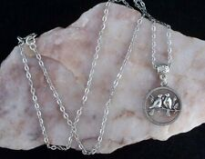Tibetan Silver Love Birds Pendant Tibetan Silver Chain Necklace.Handmade