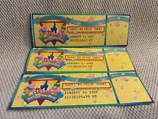 Personalised Universal Studios Florida Ticket Style Invites inc Envelopes US1