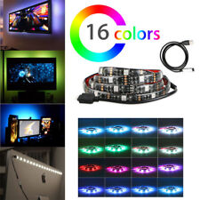 5V 5050 RGB LED Bias Strip Light For TV PC HDTV Monitors USB Background Lighting