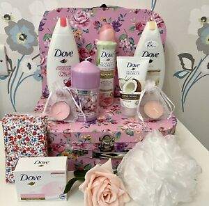 LADIES LUXURY DOVE GIFT PAMPER HAMPER CASE MOTHERS DAY GET WELL BIRTHDAY THANKS