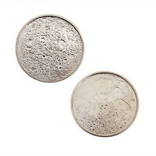 Moon Geocoin For Geocaching - Satin Nickel Finish
