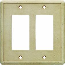 Hampton Bay 2 GFCI Wall Plate - Travertine SWP105-01