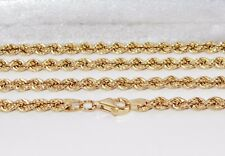 9CT GOLD & SILVER 4mm SOLID ROPE CHAIN 30 inch - Men's or Ladies - 17.7 grams