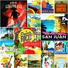 San Juan Puerto Rico Fridge Magnet Poster Retro Vintage Cute Art City Gift