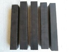 "(5) LOT OF 5, AFRICAN BLACK WOOD PEN BLANKS  TURNING SQUARE 3/4 X 3/4"" X 5 3/4"