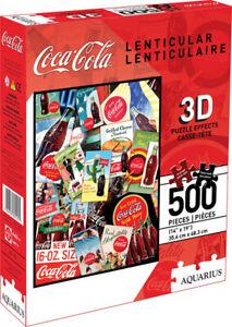 Coca-Cola 3D Lenticular 500piece Jigsaw Puzzle