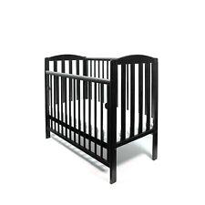 Black Tobie Cot Baby Mini Cot Space Saver Cot Compact Cot + Foam Mattress 100x50
