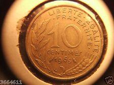 1969 FRANCE 10 CENTIMES