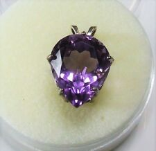 Natural earth-mined amethyst in a solid sterling silver pendant ...10 Carat Gem