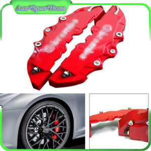 2PCS Fit For Car Wheel Brake Caliper Cover Front Rear Dust Resist Protection