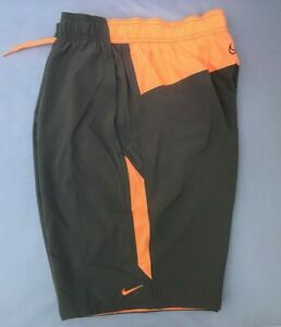 """NIKE Men's 20"""" Contend 2.0 Shorts NESS9427 Grey/Peach Water Repellent MSRP $52"""