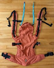 Lenny Lamb Ergonomic Baby Carrier, Burnt Orange Diamond Weave w/ Reach Straps