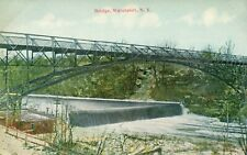 Bridge Waterport Scenic View Water Fall New York NY Postcard
